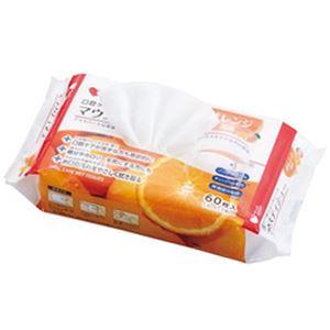 (まとめ)オオサキメディカル PLUSHEAT マウスティシュー オレンジ 1パック(60枚)【×10セット】