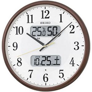 SEIKO カレンダー・温湿度計付き電波掛時計    1台 型番:KX383B