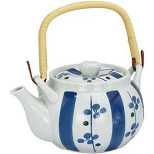 (まとめ)西海陶器 梅十草8号 土瓶 1400ml 1個【×2セット】