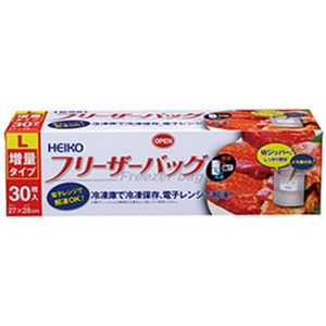 (まとめ)フリーザーバッグ 業務用L30枚【×10セット】