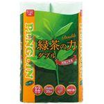 (まとめ)丸富製紙 トイレットペーパー 緑茶の力 ティーフラボン 緑茶の香り ダブル 35m 1パック(12ロール)【×10セット】