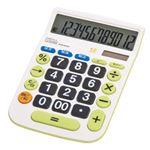 (まとめ)ナカバヤシ デスクトップ電卓大型キータイプ Mサイズ 1個 ECD-8502G【×5セット】