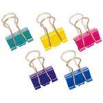 (まとめ)オフィスデポオリジナル カラーダブルクリップ 5色アソート Sサイズ 1箱(50個)【×20セット】