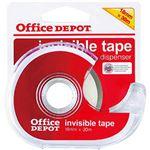(まとめ)オフィスデポオリジナル メンディングテープ(小巻) ディスペンサー付 幅1.8cm×長さ30m 1巻【×20セット】
