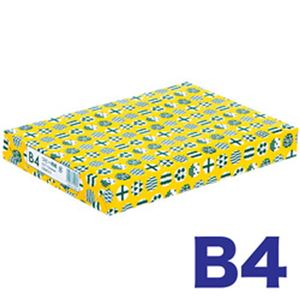 (まとめ)高白色コピー用紙 ノルディック B4 500枚 1冊【×5セット】