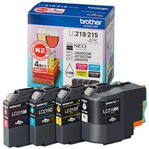 ブラザー純正インクカートリッジ 4色パック 型番:LC219/215-4PK  単位:1箱(4色パック)