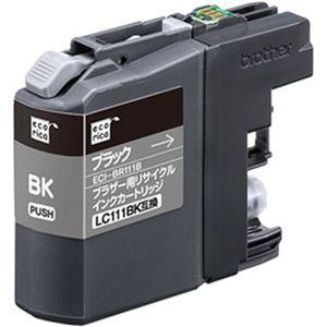 (まとめ)エコリカ リサイクルインクカートリッジ (ブラザー LC111BK互換) ブラック 1個【×5セット】