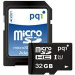 (まとめ)PQIMicroSDHCカード 32GB Class10 UHS-I対応 MS10U11-32H 1枚【×3セット】