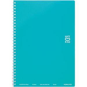 (まとめ)コクヨ ソフトリングノート ドット入り罫線 B罫(6mm) セミB5 ライトブルー スーSV301BT-LB 1冊(40枚)【×10セット】 - 拡大画像