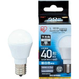 (まとめ)アイリスオーヤマ LED電球 E17 直下タイプ 40W形相当 昼白色 密閉型器具対応 LDA4N-H-E17-4T5 1個【×5セット】