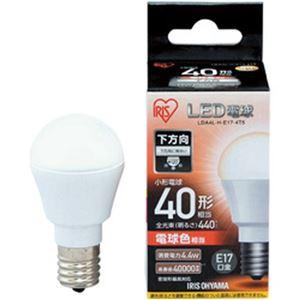 (まとめ)アイリスオーヤマ LED電球 E17 直下タイプ 40W形相当 電球色 密閉型器具対応 LDA4L-H-E17-4T5 1個【×5セット】 - 拡大画像