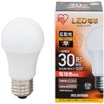 (まとめ)アイリスオーヤマ LED電球 E26 広配光タイプ 30W形相当 電球色 密閉型器具対応 LDA3L-G-3T5 1個【×10セット】