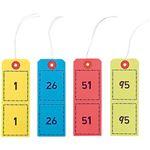 ハピラ ペーパークロークチケット 袋入 1箱(10色×100枚)