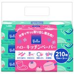 (まとめ) ユニバーサル・ペーパー ハローキッチンペーパー210枚 1パック(70枚×3包) 【×10セット】