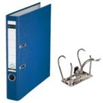 (まとめ) ライツ レバーアーチファイル ポリプロピレン表紙(A4タテ・2穴) ブルー 背幅5.5cm・収容枚数350枚 【×3セット】