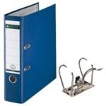 (まとめ) ライツ レバーアーチファイル ポリプロピレン表紙(A4タテ・2穴) ブルー 背幅8.1cm・収容枚数600枚 【×3セット】