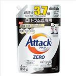 (まとめ)花王 アタックZERO ドラム式専用・詰替 1個(1350g)【×2セット】