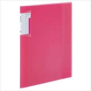 (まとめ)コクヨ クリヤーブック【ノビータ】A4 ポケット40枚 ピンク 1冊【×5セット】 - 拡大画像