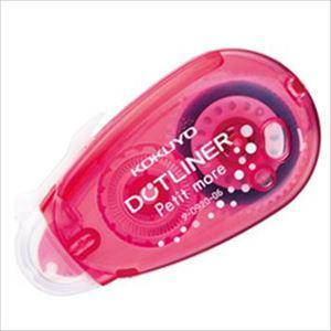 (まとめ)コクヨ ドットライナープチモア ピンク (6mm×10m) タ-D920-06P 1個【×20セット】 - 拡大画像