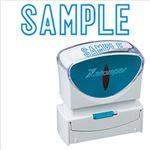 (まとめ)シヤチハタ XスタンパーキャップレスB型 「SAMPLE」 藍 X2-B-10023 1個【×3セット】