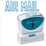 (まとめ)シヤチハタ XスタンパーキャップレスB型 「AIR MAIL」 藍 X2-B-10013 1個【×3セット】