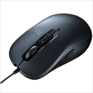 (まとめ)サンワサプライ 有線ブルーLEDマウス ガンメタ MA-BL114GM 1個【×2セット】 - 拡大画像