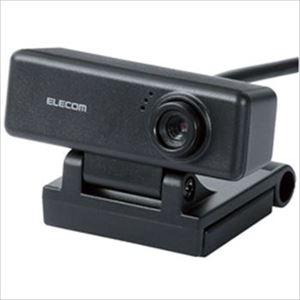 (まとめ)エレコム マイク内蔵 高精細ガラスレンズ 100万画素WEBカメラ UCAM-C310FBBK 1個【×2セット】 - 拡大画像