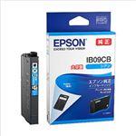 (まとめ)エプソン インクカートリッジ IB09シリーズ シアン 大容量インク 純正 IB09CB 1個【×2セット】