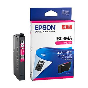 (まとめ)エプソン インクカートリッジ IB09シリーズ マゼンタ 純正 IB09CA 1個【×3セット】 - 拡大画像