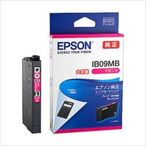 (まとめ)エプソン インクカートリッジ IB09シリーズ マゼンタ 大容量インク 純正 IB09MB 1個【×2セット】 - 拡大画像