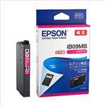 (まとめ)エプソン インクカートリッジ IB09シリーズ マゼンタ 大容量インク 純正 IB09MB 1個【×2セット】