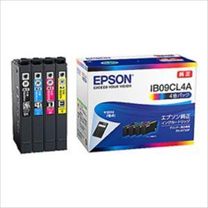 エプソン インクカートリッジ IB09シリーズ 4色入(ブラック、シアン、マゼンタ、イエロー) 純正 IB09CL4A 1箱 - 拡大画像