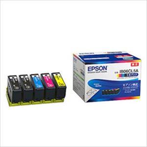 エプソン インクカートリッジ 4色5本入り(ブラック2個、シアン、マゼンタ、イエロー) 純正 IB06CA 1箱 - 拡大画像