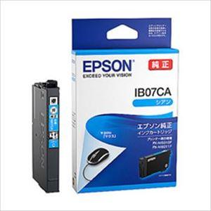 (まとめ)エプソン インクカートリッジ IB07シリーズ シアン 純正 IB07CA 1個【×3セット】 - 拡大画像