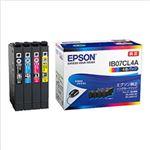 エプソン インクカートリッジ IB07シリーズ 4色入(ブラック、シアン、マゼンタ、イエロー)純正 IB07CL4A 1箱