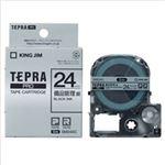 (まとめ)キングジム テプラPROカートリッジ 備品管理ラベル 12mm幅 銀に黒文字 1個【×2セット】