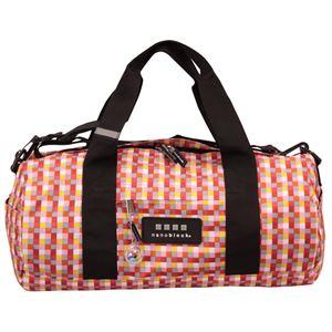 nano block(ナノブロック) BOSTON BAG block pattern ボストンバッグ NB005C ピンク - 旅行グッズ特集