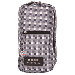 nano block(ナノブロック) one shoulder block pattern ショルダーバッグ NB007C ブラック - 旅行グッズ特集