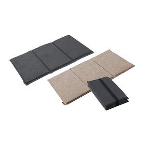 三つ折り ピロークッション/マットレス 【チャコール】 シングル 幅47.5cm 日本製 X30 『ファイテン 星のやすらぎ』 - 拡大画像
