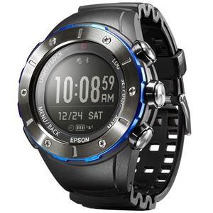 エプソン(EPSON) Wristable GPS for Trek MZ500MS マウンテンサファイア MZ500MS - 拡大画像
