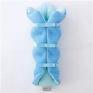 musshu(ムッシュ) 足枕 サクラ咲くまくら(両足用) ブルー - 拡大画像