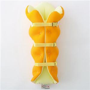 musshu(ムッシュ) 足枕 サクラ咲くまくら(両足用) オレンジ - 拡大画像