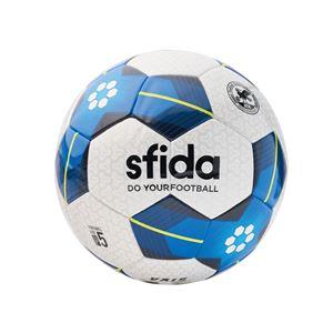 SFIDA(スフィーダ) サッカーボール 5号球 VAIS ホワイト×ブルー BSFVA02 - 拡大画像