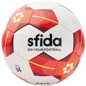 SFIDA(スフィーダ) サッカーボール ジュニア用4号球 VAIS JR ホワイト×レッド BSFVA03 - 拡大画像