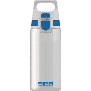 SIGG ワンタッチ式トライタン製ボトル トータルクリア ワン(ブルー 0.5L) - 拡大画像