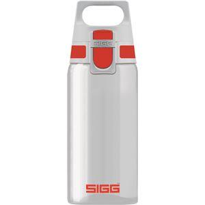 SIGG ワンタッチ式トライタン製ボトル トータルクリア ワン(レッド 0.5L) - 拡大画像