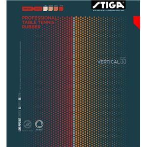 STIGA(スティガ) 粒高ラバー VARTICAL 55 OX(バーティカル 55 OX) RED スポンジ無し - 拡大画像