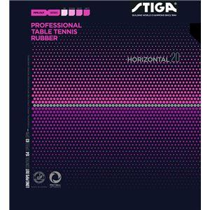 STIGA(スティガ) 粒高ラバー HORIZONTAL 20 OX(ホリゾンタル 20 OX) BLACK スポンジ無し - 拡大画像