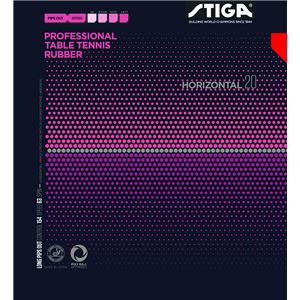 STIGA(スティガ) 粒高ラバー HORIZONTAL 20(ホリゾンタル 20) RED 中 - 拡大画像