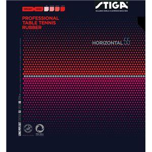 STIGA(スティガ) 粒高ラバー HORIZONTAL 55(ホリゾンタル 55) BLACK 中 - 拡大画像